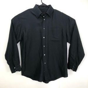Bugatchi Uomo Ribbed Reflective Coated Shirt Med